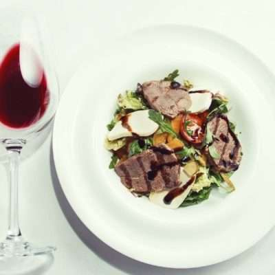 Salad with veal