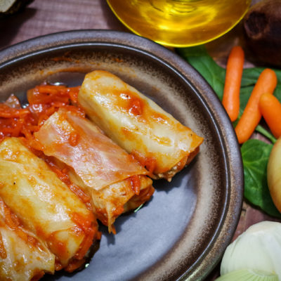 Lean stuffed cabbage roll