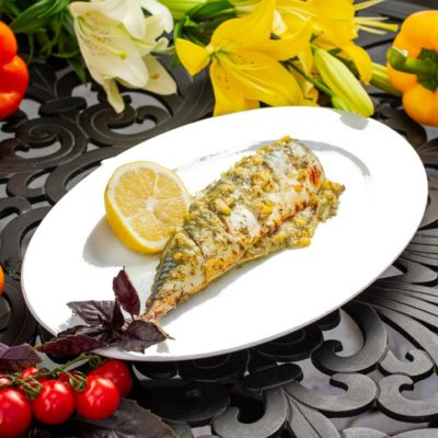 Mackrel with lemon and herbs